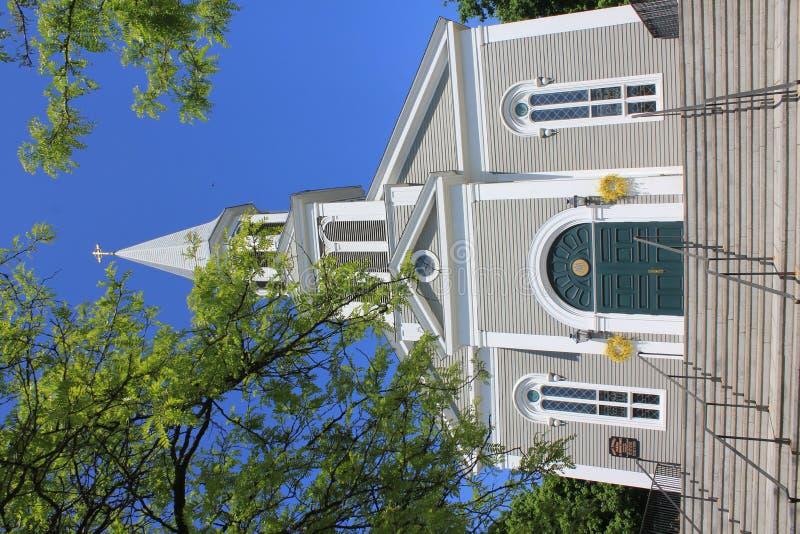 New England kyrka royaltyfri bild