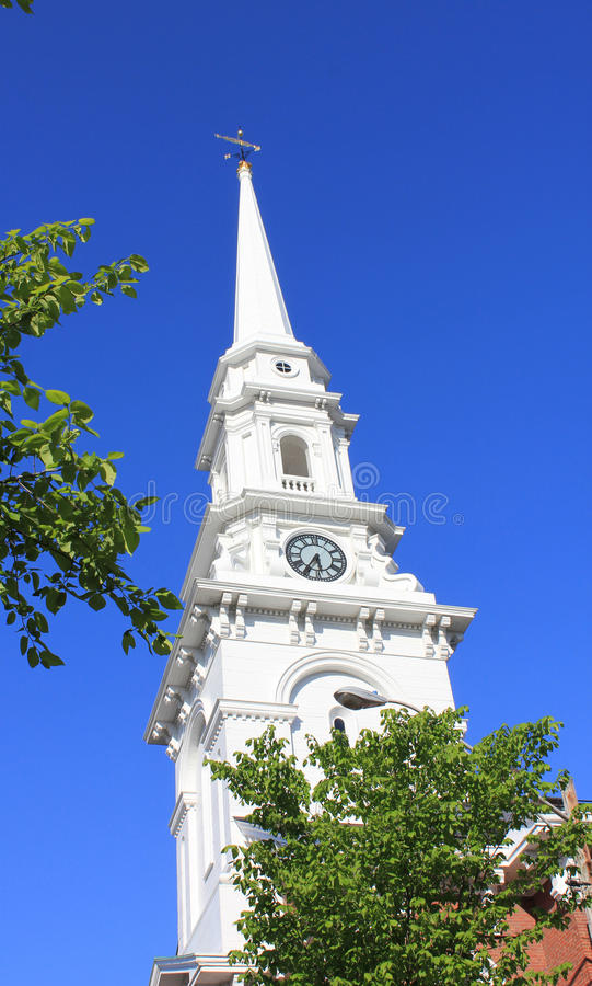 New England kyrka fotografering för bildbyråer