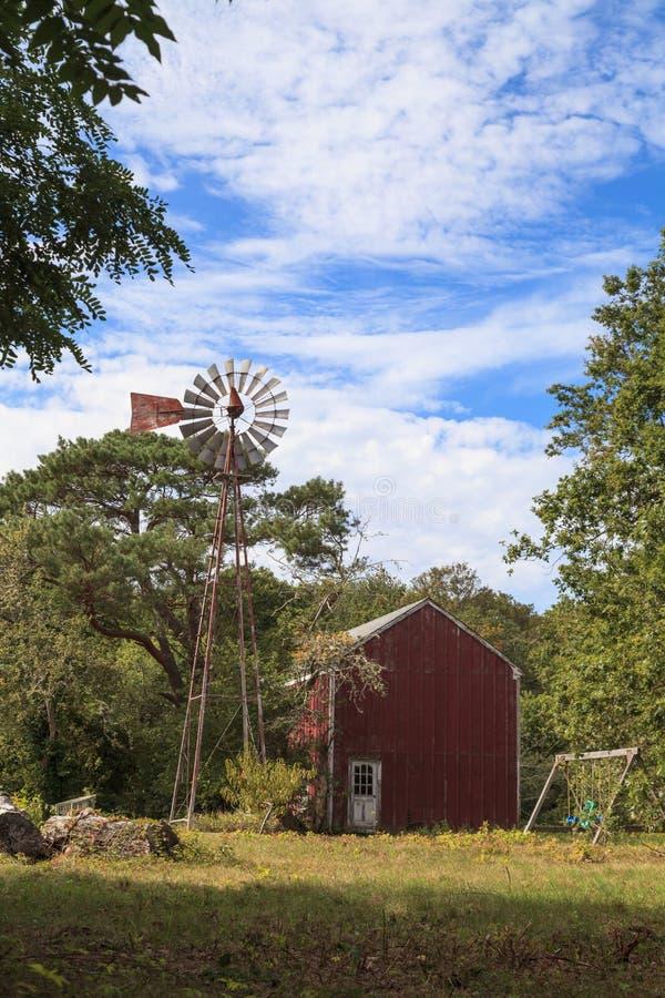 New England lantlig ladugård arkivbild