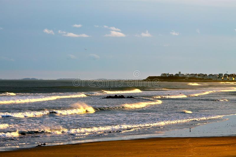 New England Ocean Waves royalty free stock image