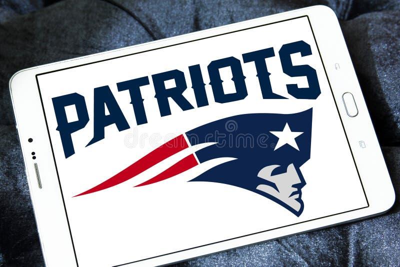 New England Patriots futbolu amerykańskiego drużyny logo obrazy royalty free