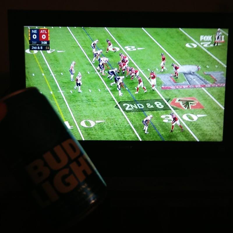 New England Patriots SuperBowl 51 gegen Atlanta Falcons stockfotos