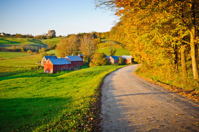 New England Rural Landscape stock photo