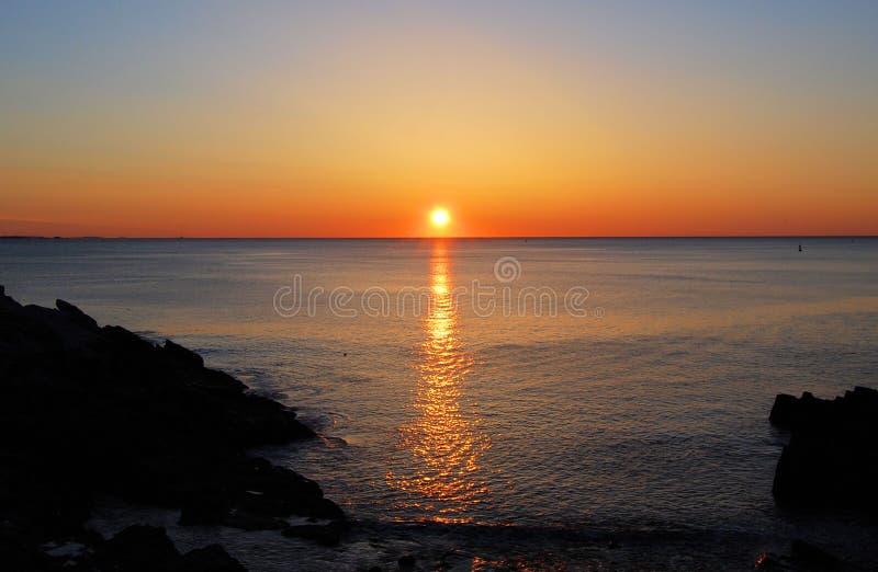 New England soluppgång royaltyfri bild