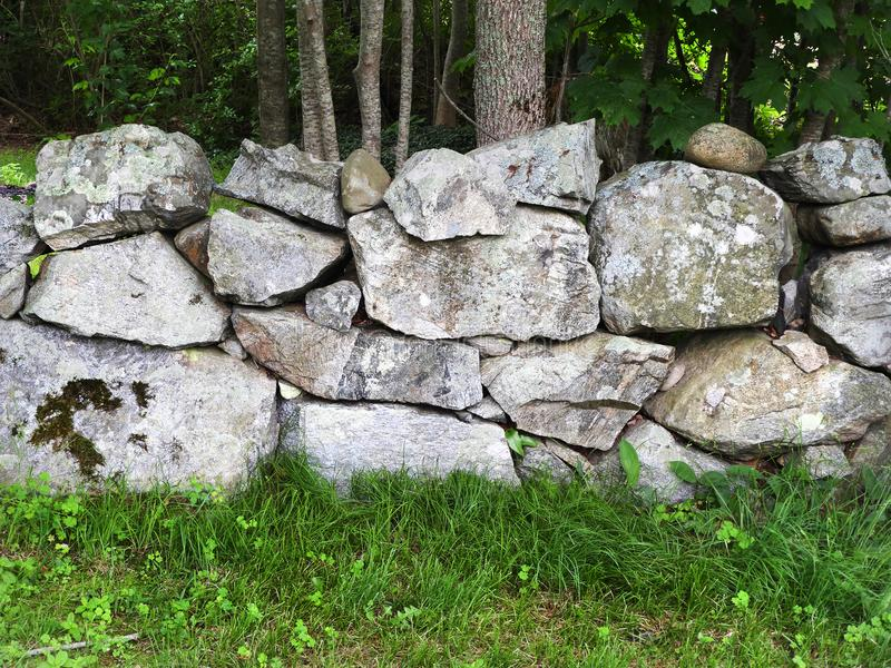 New England stone walls can be centuries old royalty free stock photography