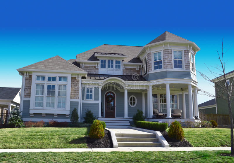 New England Style Cape Cod Dream Home. Beautiful New England Style Cape Cod Dream Home stock photo
