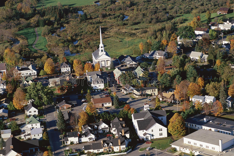 Download New England village stock image. Image of suburbia, rural - 23162131