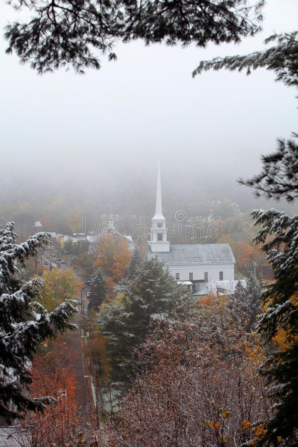 New England Winter Scene stock photography