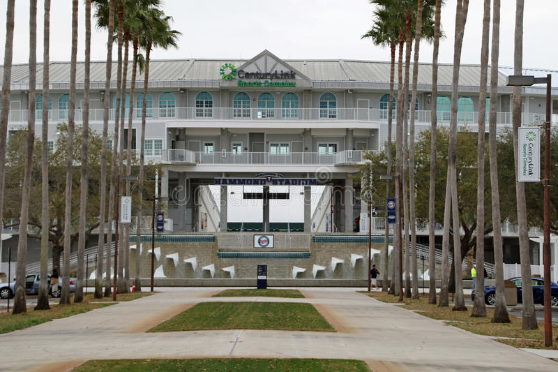 The New Entrance to Hammond Stadium. Hammond Stadium is a baseball field in the CenturyLink Sports Complex in South Fort Myers, Florida, United States. The stock photo