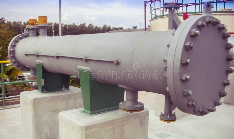 New equipment installation in chemical plant royalty free stock images