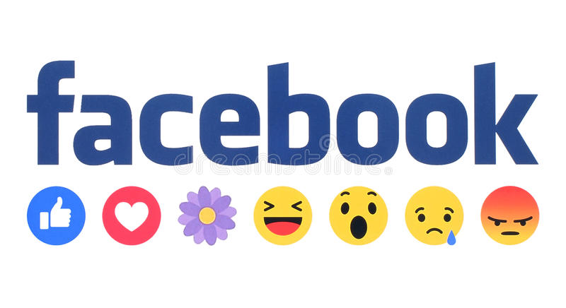 New Facebook like button Empathetic Emoji Reactions with flower vector illustration