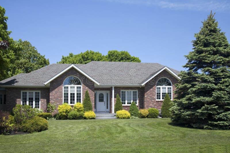 New Family Brick Home stock photo