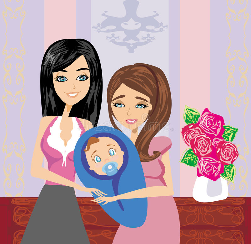 Download New family member stock vector. Image of interior, family - 38727079