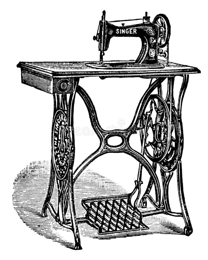 New family model of Singer sewing machine. royalty free stock photography