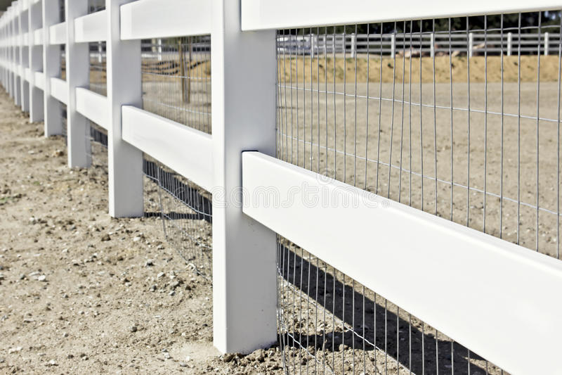 Download New Fence stock photo. Image of angle, exterior, land - 23926124