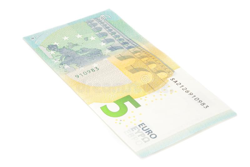 Download New Five Euro Banknote Back Side Stock Image - Image: 31133583