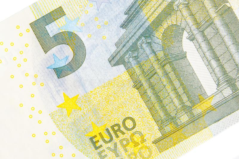 New five euro banknote front side stock photo