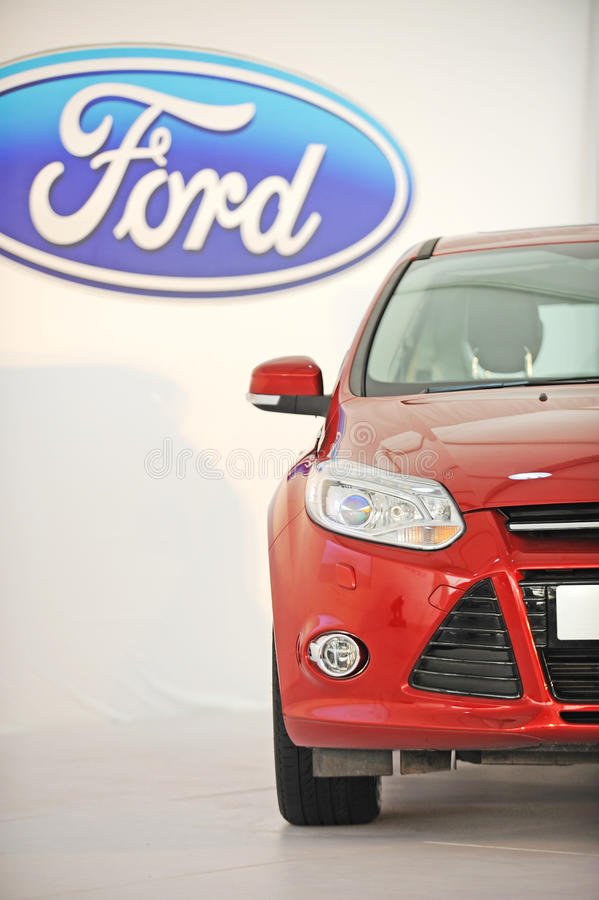 New focus with ford logo royalty free stock image