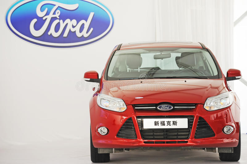 New focus with ford logo stock images