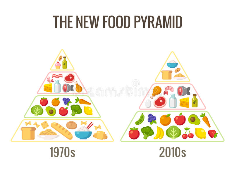 The new food pyramid royalty free illustration