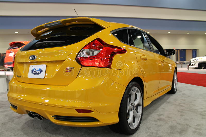 New 2014 Ford Focus St Rear Angle 09 Editorial Photo