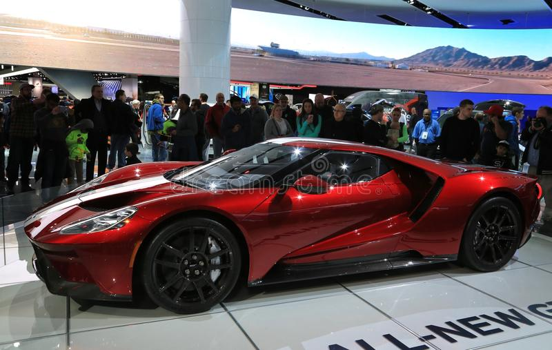 New 2018 Ford GT Supercar On Display At The North American ... Supercar Show on car show, roadster show, truck show, corvette show, lamborghini show, ferrari show, motorcycle show,