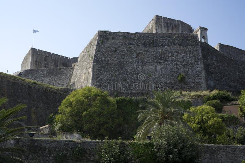 New fortress, Corfu, greece. The new fortress at Corfu, greece stock photos