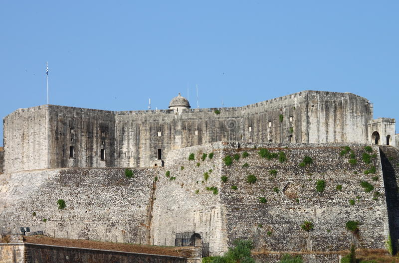 The New Fortress in Corfu royalty free stock photography