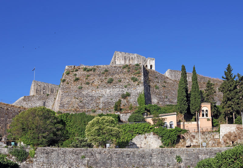 New fortress Corfu town. Greece stock images
