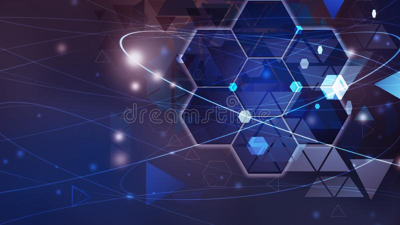 New future technology concept background concept for business solution blue royalty free illustration