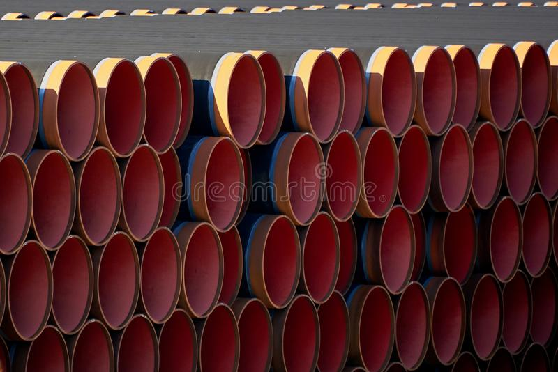 New piplines for Nord stream project. New gas piplines for Nord stream project stock photos