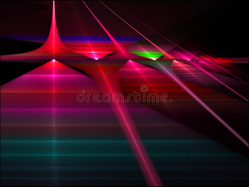 New gate. A energized gate of pure energy surrounds an alien section of space stock illustration