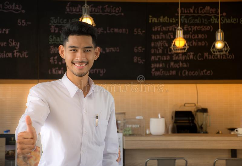 The new generation is committed to the restaurant business. Business Owners royalty free stock photo