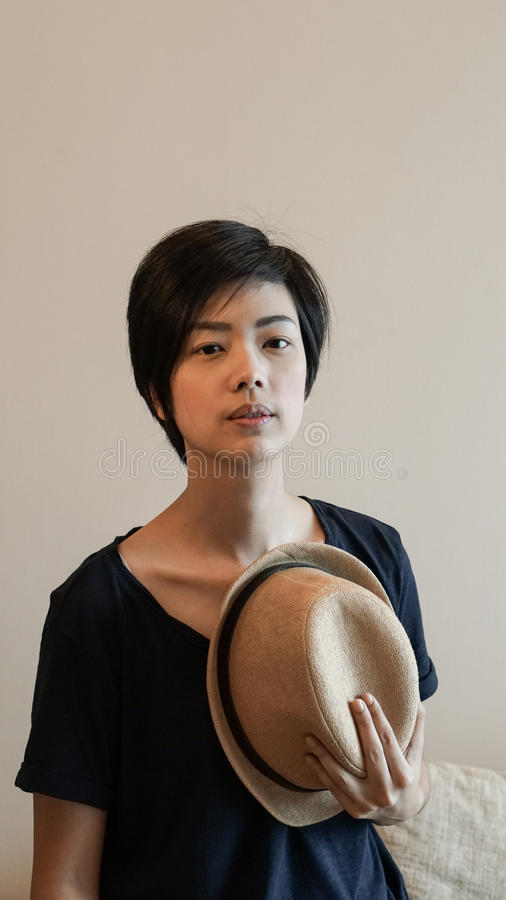 Free New Generation Hipster Life Style Short Hair Aisan Woman With Co Royalty Free Stock Photography - 98278987