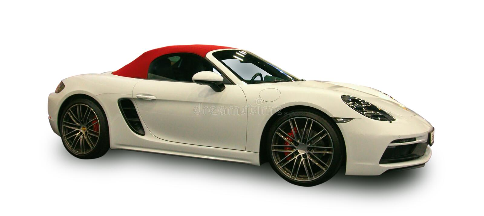 New German luxury sports car. White background. royalty free stock image