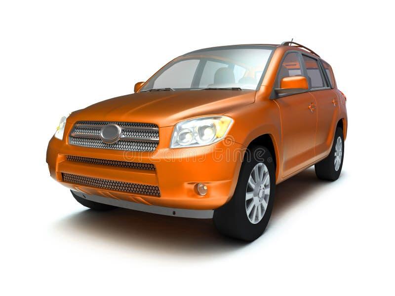 New glossy 4x4 car royalty free stock photo