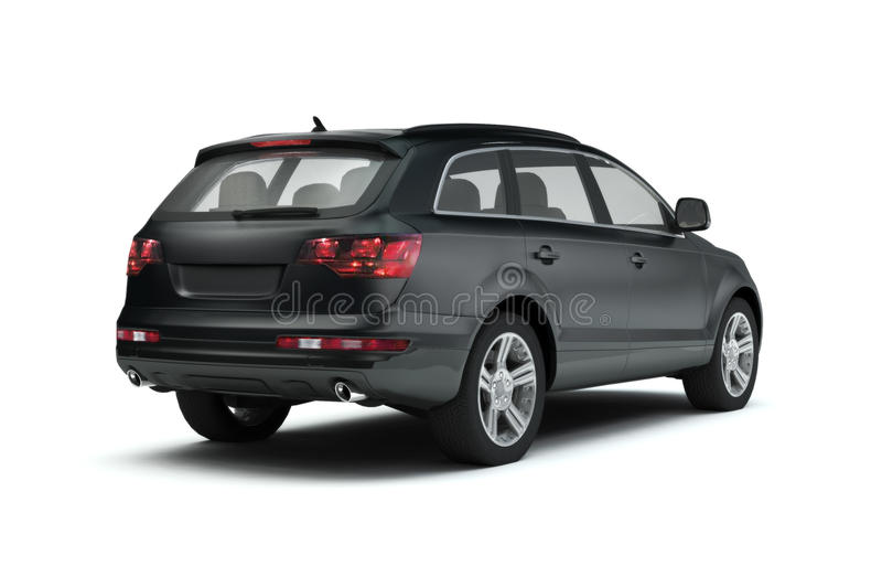 New glossy SUV stock illustration