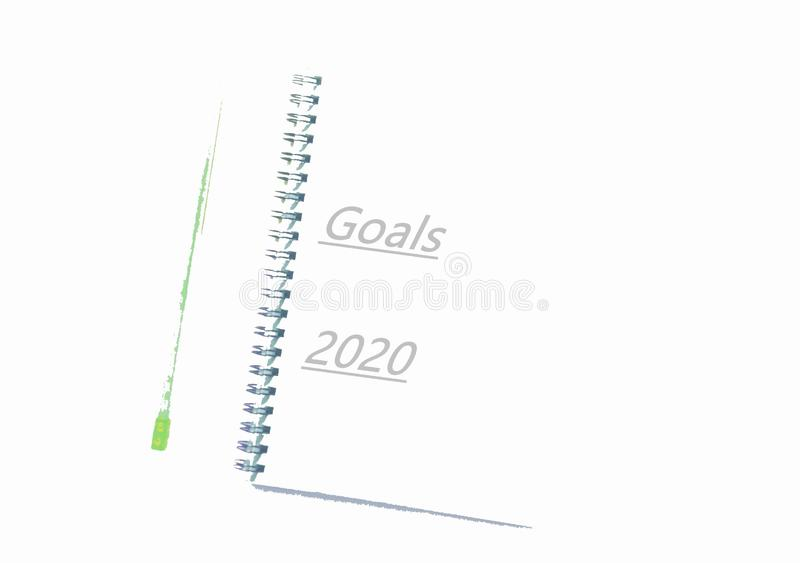Goals of 2020 royalty free stock images