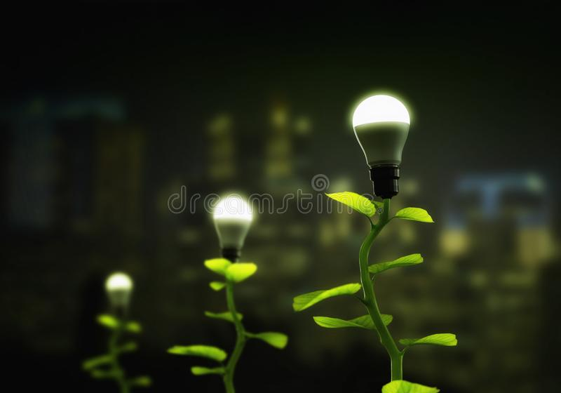 New Green renewable and Sustainable Energy Concept royalty free stock photos