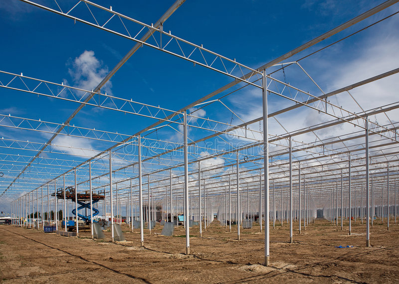 New greenhouses stock photos