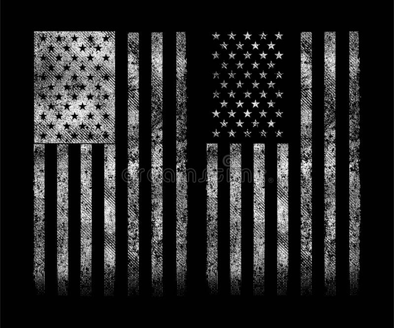 New grunge usa flag background/wallpaper - free vector. stock image
