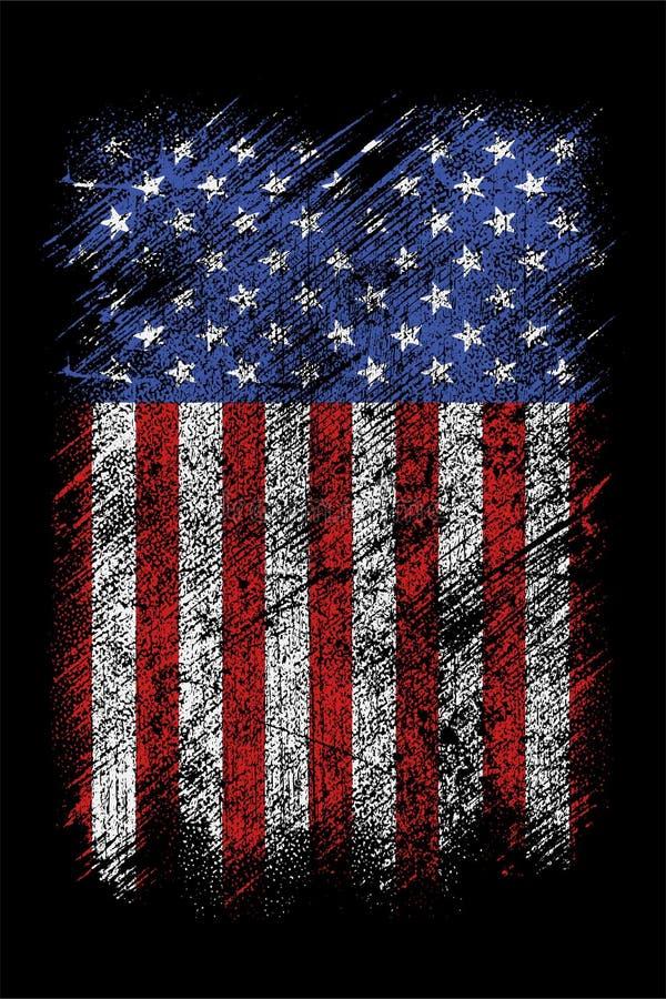 New Grunge Usa Flag Background Wallpaper Free Vector Stock Vector Illustration Of Wallpaper Celebration 175569000
