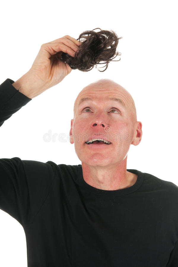 Download New hair for bald man stock image. Image of background - 28001365