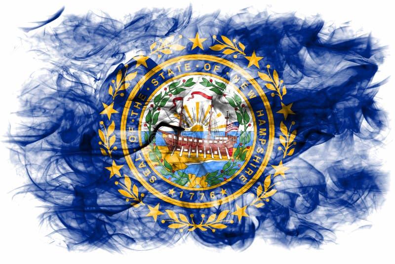 New Hampshire-de rookvlag van de staat, de Verenigde Staten van Amerika stock illustratie