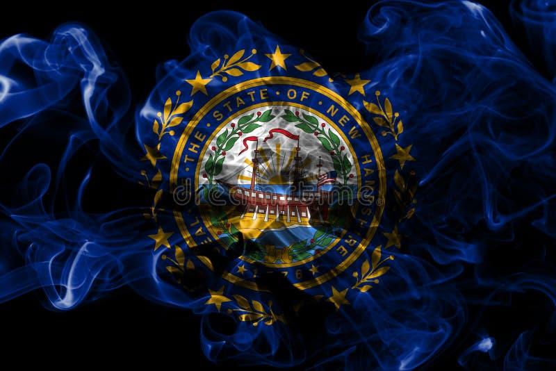 New Hampshire-de rookvlag van de staat, de Verenigde Staten van Amerika royalty-vrije illustratie