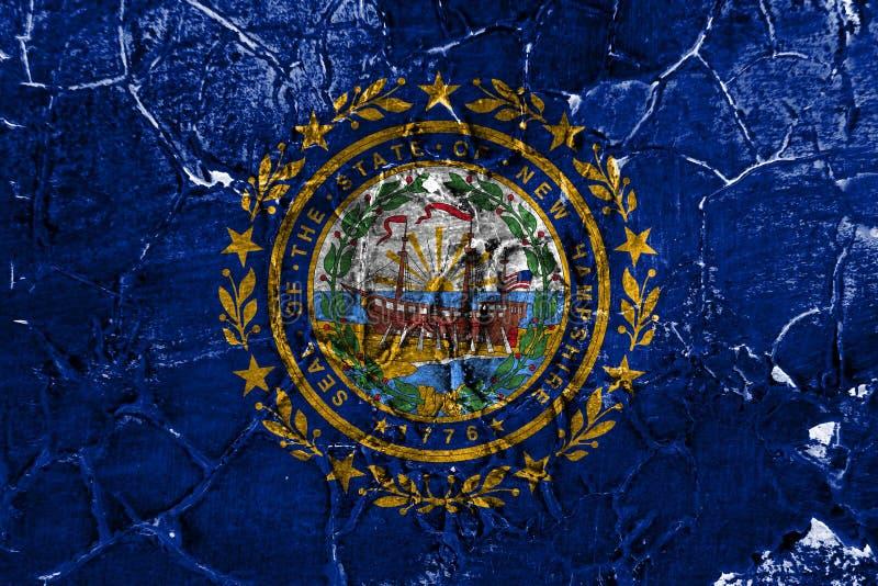 New Hampshire-de vlag van de staat grunge, de Verenigde Staten van Amerika vector illustratie
