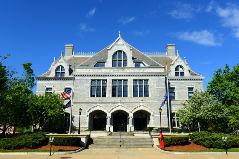 New Hampshire lagstiftnings- kontor, harmoni, NH, USA royaltyfria bilder