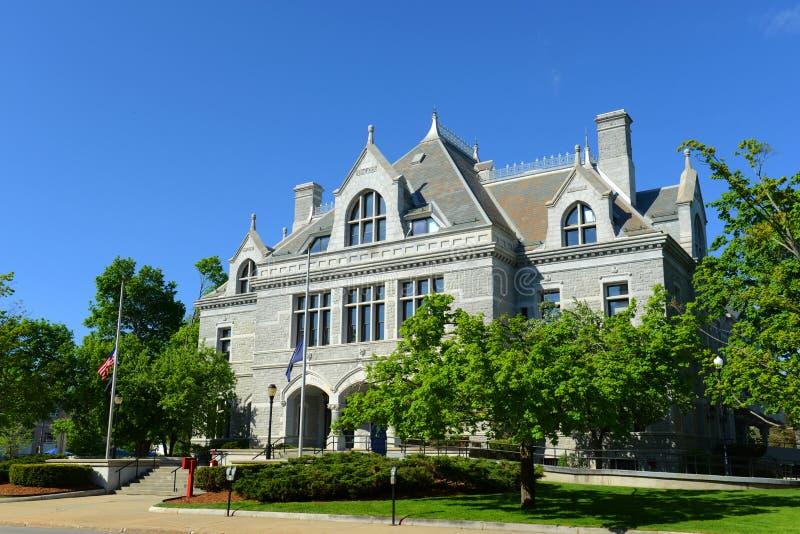 New Hampshire lagstiftnings- kontor, harmoni, NH, USA arkivfoton