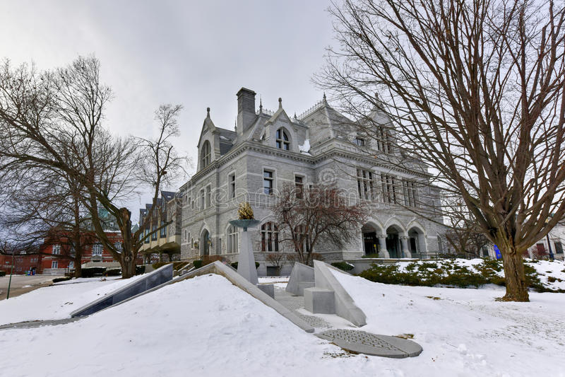 New Hampshire lagstiftnings- kontorsbyggnad royaltyfri fotografi