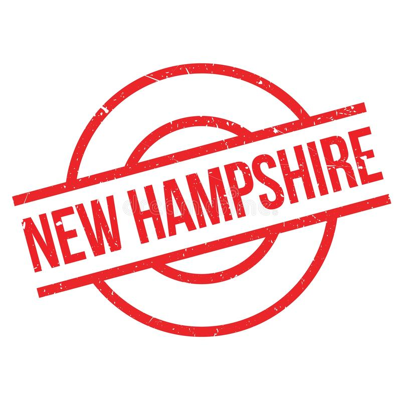 New Hampshire rubber stamp. Grunge design with dust scratches. Effects can be easily removed for a clean, crisp look. Color is easily changed vector illustration